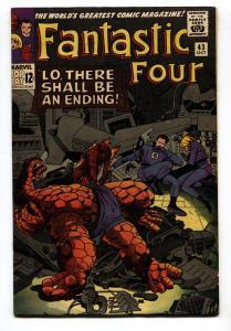FANTASTIC FOUR #43 comic book-KIRBY-RARE MARVEL FN