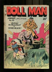 Doll Man #20 1949- TORCHY- Bill Ward Golden Age VG