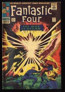 Fantastic Four #53 VG- 3.5 Marvel Comics 2nd Black Panther!
