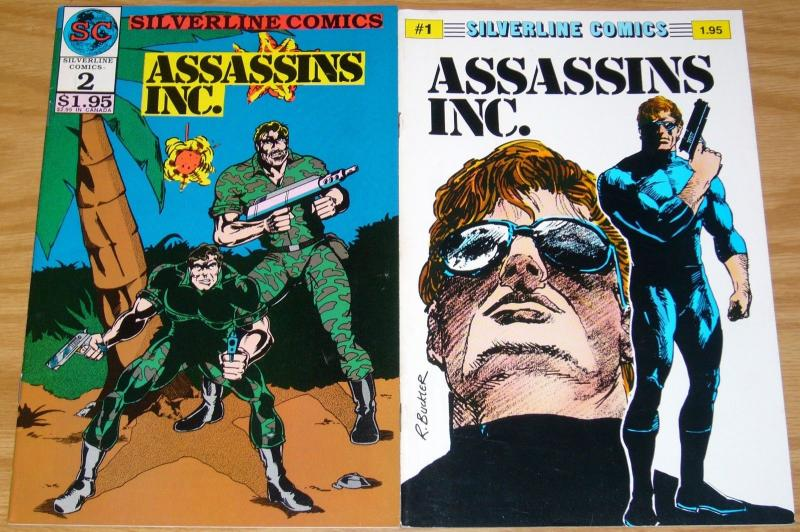 Assassins Inc. #1-2 VF/NM complete series - silverline comics - rich buckler set
