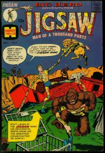 JIGSAW COMICS #1 1966-WILD GORILLA COVER-REED CRANDALL HARVEY VG