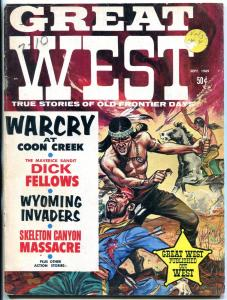 Great West Magazine September 1969- Wild Scalping cover- Dick Fellows VG-