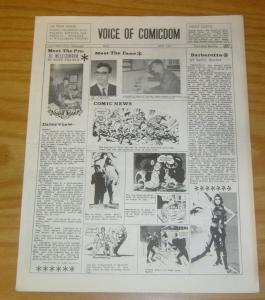 Voice of Comicdom #9 FN october 1967 fanzine - john workman - al williamson