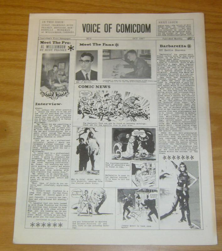 Voice of Comicdom #9 FN october 1967 fanzine - john workman - al williamson