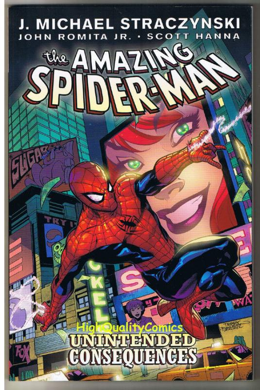 AMAZING SPIDER-MAN, NM, TPB, GN, 2nd, Unintended Consequences