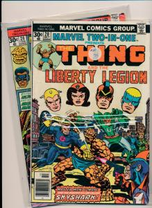 MARVEL LOT OF 2 - THE THING & LIBERTY LEGION & THE THING & BLACK GOLIATH (HX684)