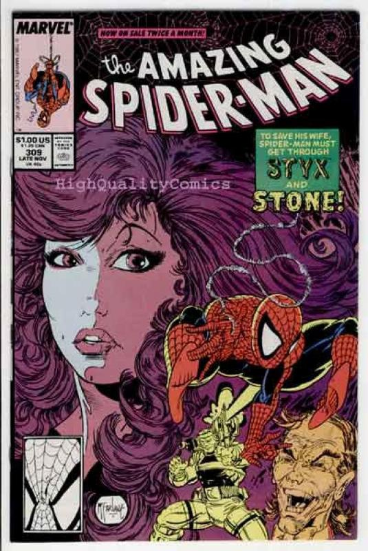 SPIDER-MAN #309, VF/NM, Todd McFarlane, Amazing, 1963,  Styx and Stone