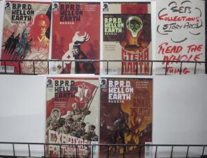 BPRD HELL ON EARTH: RUSSIA #1-5 (Dark Horse, 2011) VF-NM Mignola, Arcudi, Crook