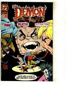 Lot of 8 DC Comics Demon 21 Flash 1 Blue Devil 7 6 Christmas Superheroes 1++ DS2