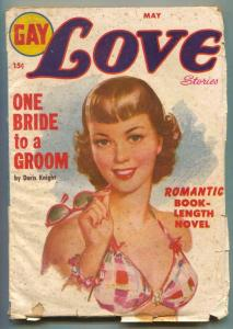 Gay Love Stories Pulp May 1950- One Bride One Groom