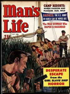 Man's Life 7/1960-WIL HULSEY white slave women chained at neck-cheescake-spicy