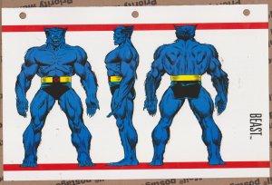 Official Handbook of the Marvel Universe Sheet - Beast