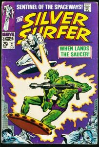 SILVER SURFER #2-1968-SILVER AGE MARVEL-FIRST BADOON