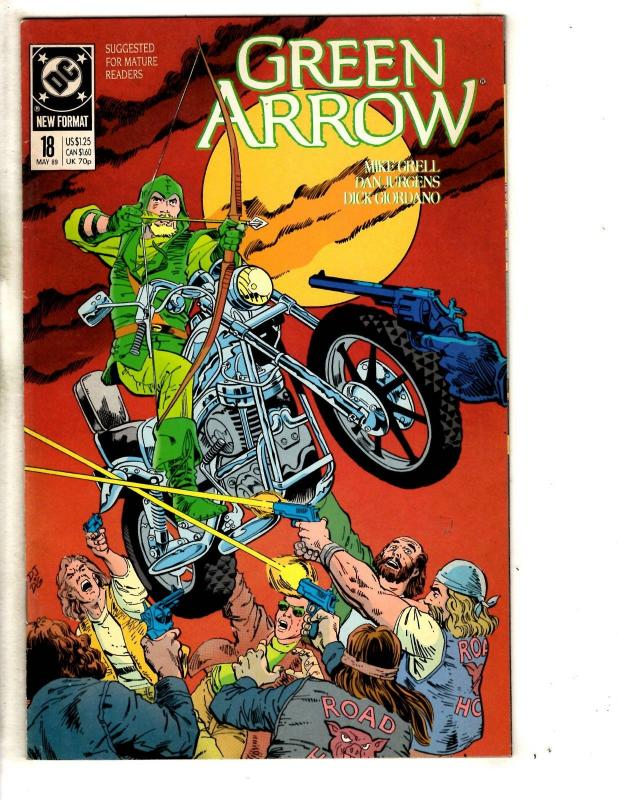 8 Green Arrow DC Comic Books # 18 19 20 21 22 23 24 25 Superman Batman J291