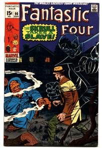 FANTASTIC FOUR #90 1969- JACK KIRBY-MARVEL-SKRULL VF