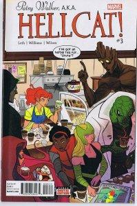 Patsy Walker AKA Hellcat #3 ORIGINAL Vintage 2016 Marvel Comics Groot Lizard