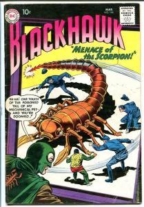 BLACKHAWK #146 1960 DC-Menace of the Scorpion VG
