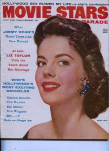 Movie Stars Parade-Natalie Wood-Susan Hayward-Robert Wagner-Aug-1956