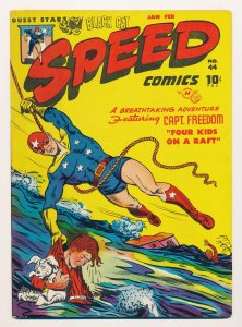 Speed Comics (1941 Brookwood) #44 VF Last issue in the series, hard to find