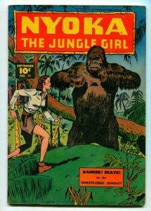NYOKA THE JUNGLE GIRL #11 1947-FAWCETT-VG/FN