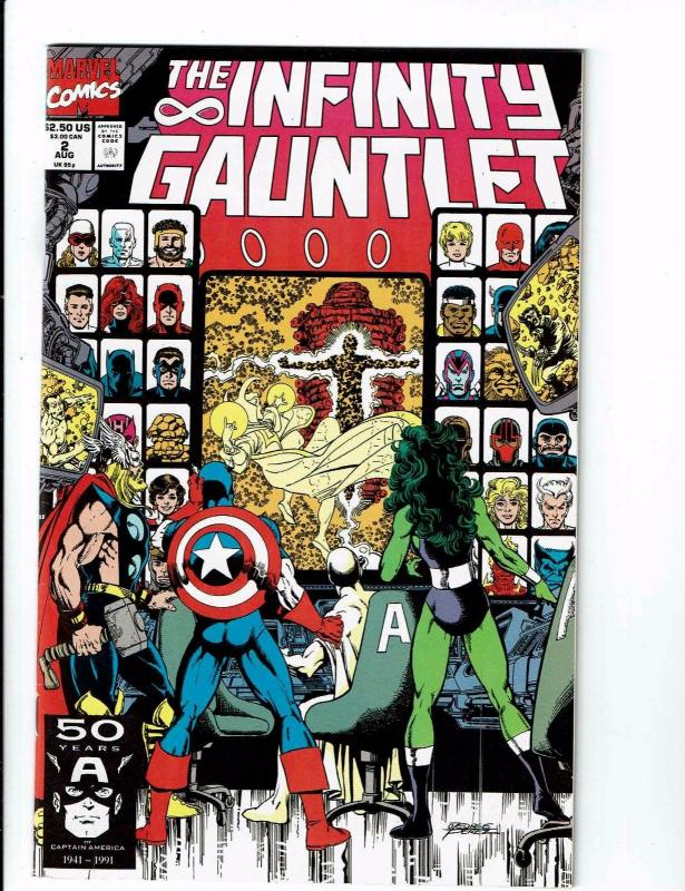 The Infinity Gauntlet COMPLETE Marvel Comics Ser # 1 2 3 4 5 6 NM 1st Print J113