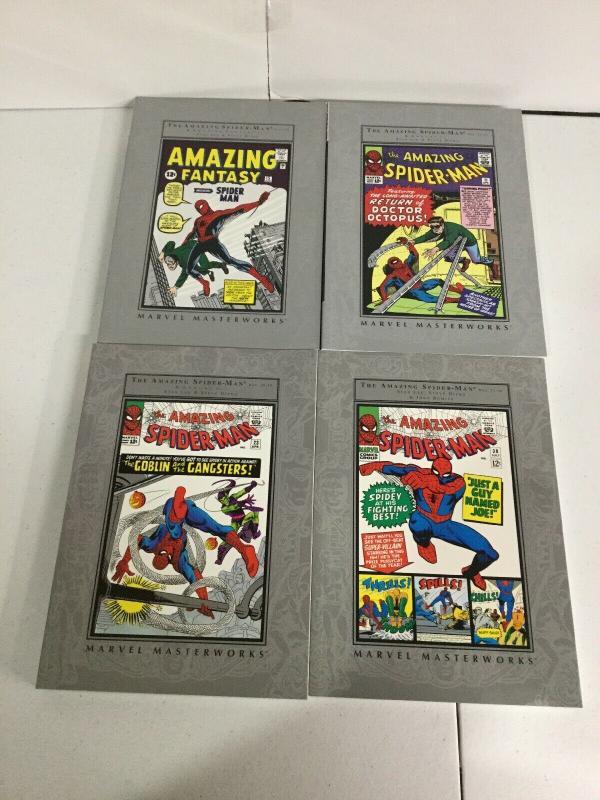 Amazing Spider-Man Marvel Masterworks Volume 1 2 3 4 TPB Lot Nm Near Mint sc