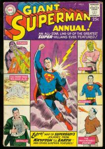 SUPERMAN ANNUAL #2 1960 GIANT-DC COMIC-BIZARRO BRAINIAC VG