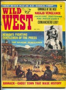 Wild West 7/1972-Cadre Press-Cannibals-Comanchero Loot-Apache Renegades Geron...