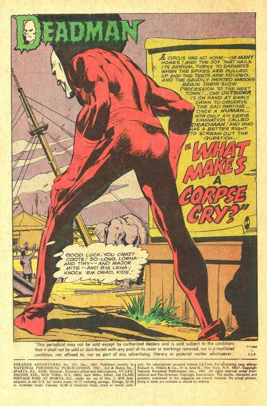 STRANGE ADVENTURES #207 (Dec1967) 9.0 VF/NM 2nd Issue with Neal Adams' DEADMAN!