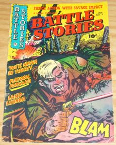 Battle Stories #7 VG+ january 1953 - golden age fawcett war comic
