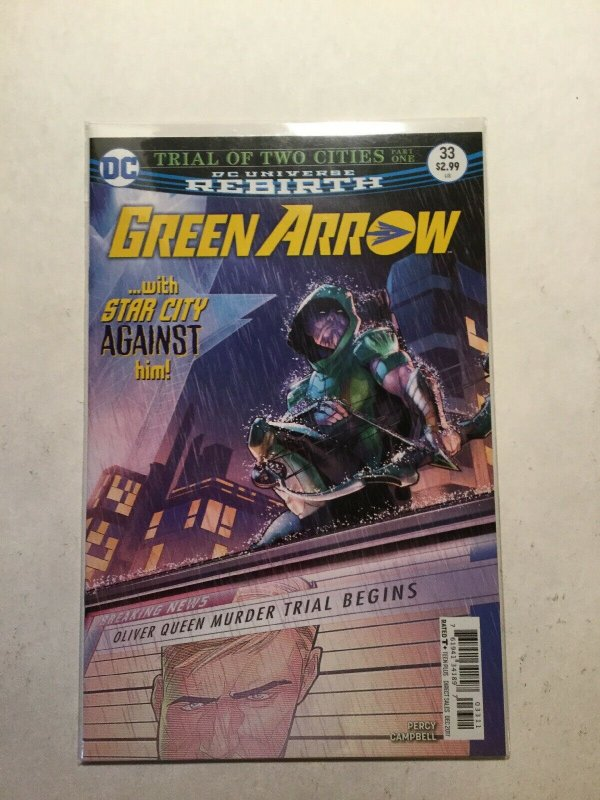 Green Arrow Rebirth 33 Near Mint Nm Dc Comics