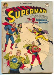 SUPERMAN #65 1950-1st KRYPTON FOES-Golden-Age DC