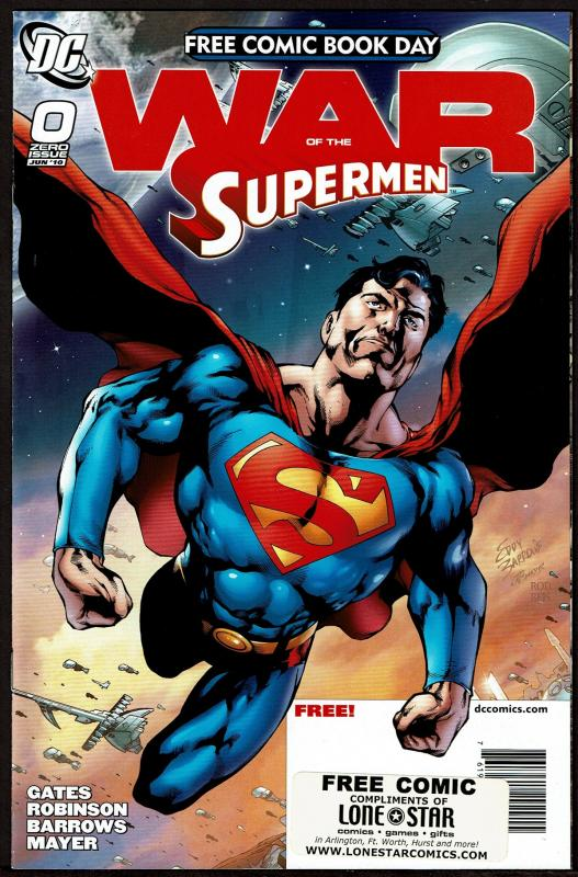 Lot of 2 FCBD Free Comic Day Issues: War of the Supermen - Divergence - NM