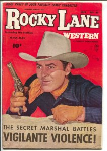 Rocky Lane Western #53-1953-Fawcett- B-Western movie star photo cover-FN