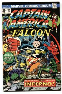 CAPTAIN AMERICA #182 1975-FALCON-SERPENT SQUAD vf/nm