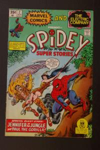 Spidey Super Stories #2 Nov 1974 Marvel and Electric Company