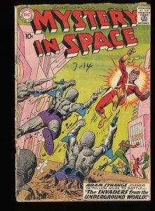 Mystery In Space #54 FA/GD 1.5 2nd Adam Strange in title!