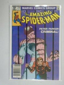 Amazing Spider-Man #219 Newsstand edition 8.0 VF (1981 1st Series)
