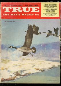 TRUE MAGAZINE NOV 1955-FAWCETT-HUNTING COVER G