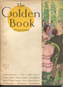 Golden Book 2/1931-new cover format-pulp thrills-Conrad-Bret Harte-VG