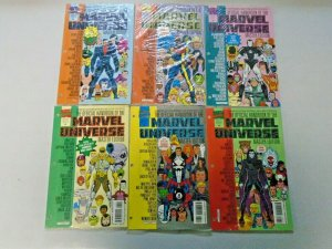 Handbook of the Marvel Universe Comic Lot From #2-36 18 Different NM (1990-1993)