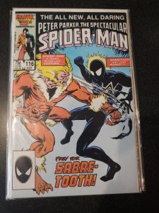 ​Spectacular Spiderman #116 HIGH GRADE NM (1986) Sabretooth