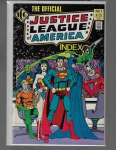 Illustrated Index Justice League of America #1-8 (Eclipse, 1986) NM