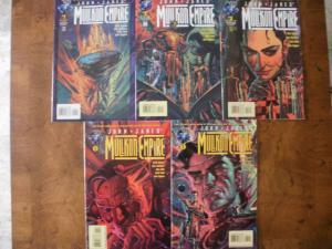 5 John Jake's MULLKON EMPIRE Comic Book: #1 #2 #3 #4 #5 (Tekno Comix 1995)