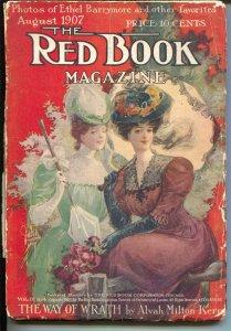 Red Book 8/1907-Good Girl Art-Pendexter-Ethel Barrymore-pulp-VG