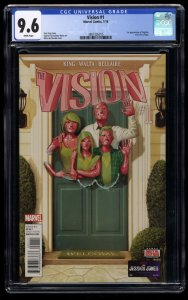 Vision #1 CGC NM+ 9.6 White Pages