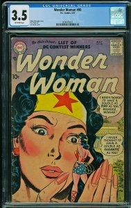 Wonder Woman #90 (DC, 1957) CGC 3.5