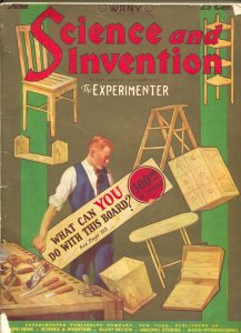 Science and Invention 6/1926-Gernsback-sci-fi pulp thrills-Ray Cummings-moon ...