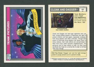 1990 Marvel Comics Card  #141 ( Cloak & Dagger ) MINT
