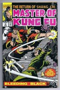 Master of Kung Fu Bleeding Black #1 ORIGINAL Vintage 1991 Marvel Comics